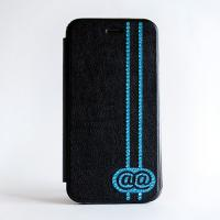 @@(アトアト) x GLAMBABY iPhone6用ケース Blue on Black